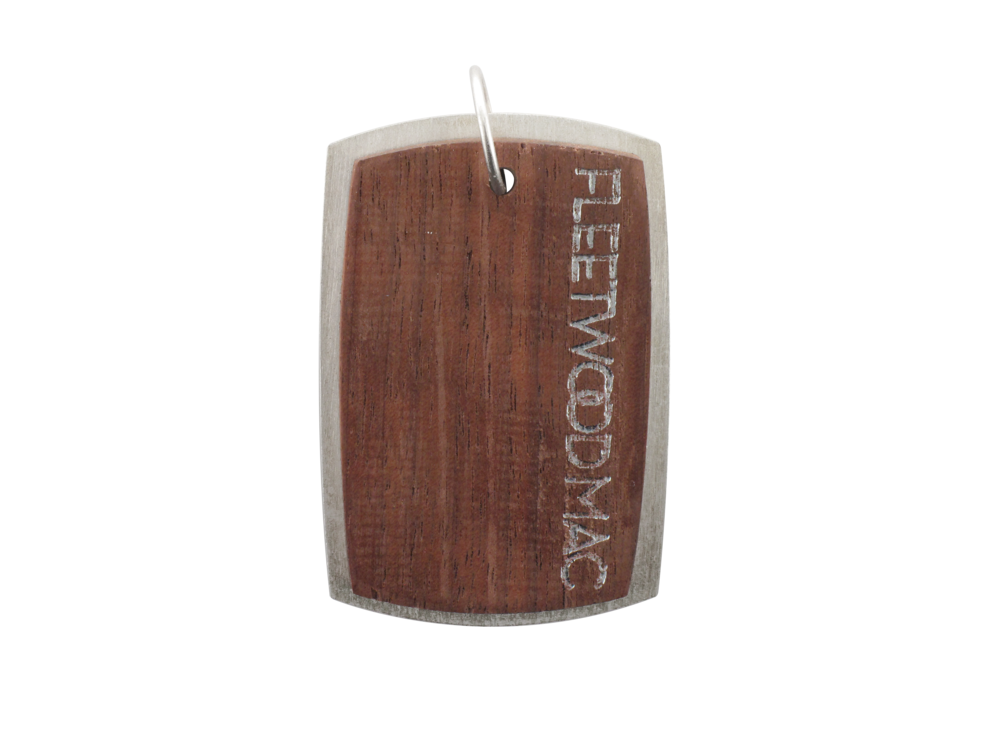 This custom dog tag was created for Fleetwood Mac during their On with the Show World Tour when they came to the BOK Center on May 1, 2013.