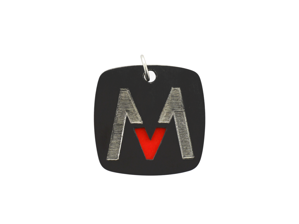 This custom dog tag was created for Maroon 5 during their Overexposed World Tour when they came to the BOK Center on March 22, 2013.