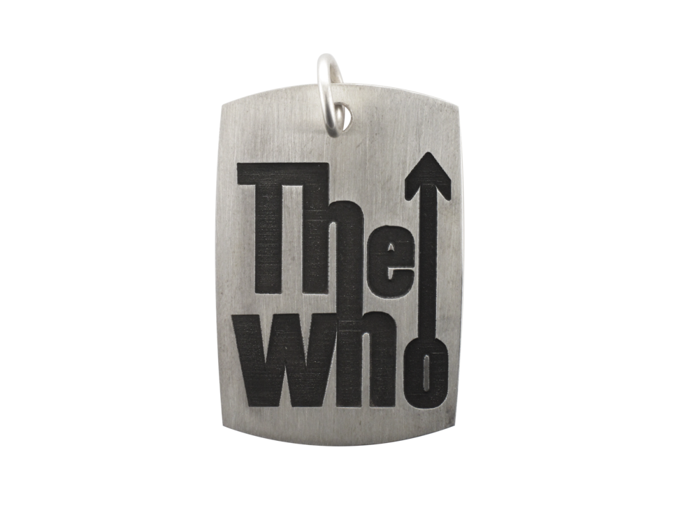 This custom dog tag was created for The Who during their Quadrophenia and More Tour when they came to the BOK Center on February 14, 2013.